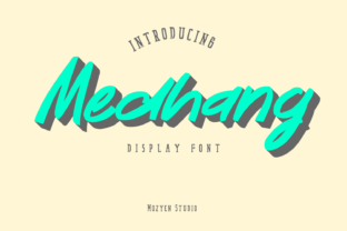 Print on Demand: Medhang Display Fuente Por mozyenstudio