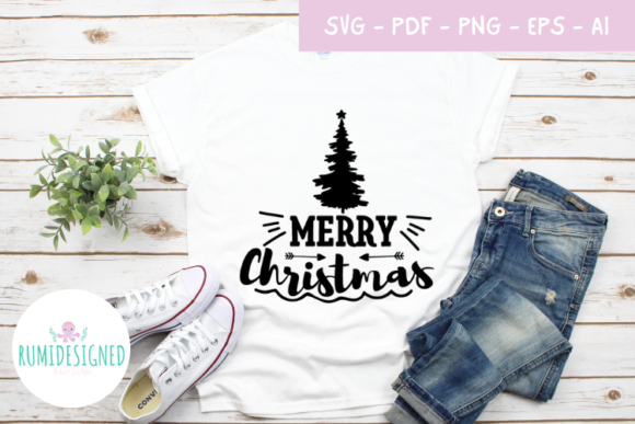 Merry Christmas Graphic Crafts By Rumi Designed