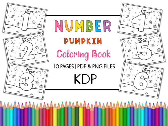 Number Pumpkin Coloring Book for Kids Graphic Coloring Pages & Books Kids By Miss Cherry Designs
