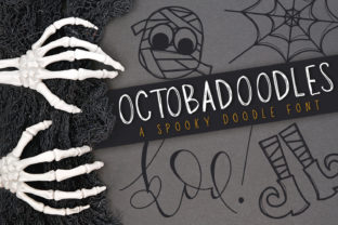 Print on Demand: OctobaDoodles Dingbats Font By browncowcreatives