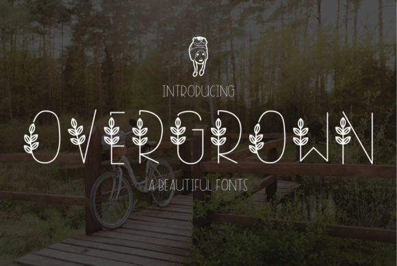 Print on Demand: Overgrown Decorative Font By dadan_pm