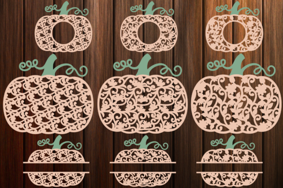 Print on Demand: Patterned Pumpkins Thanksgiving Day Graphic Crafts By yulnniya