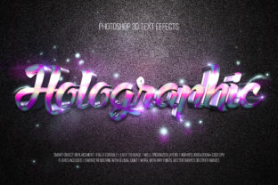 Print on Demand: Photoshop 3D Text Effects (Holographic) Graphic Layer Styles By DigitalPremium