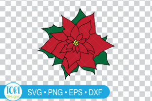 Poinsettia Flower Clipart. Graphic Illustrations By Tori Designs