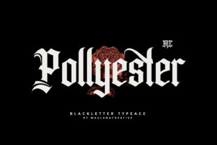 Print on Demand: Pollyester Blackletter Font By Maulana Creative