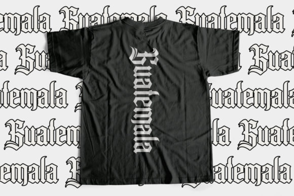 Print on Demand: Pollyester Blackletter Font By Maulana Creative - Image 3
