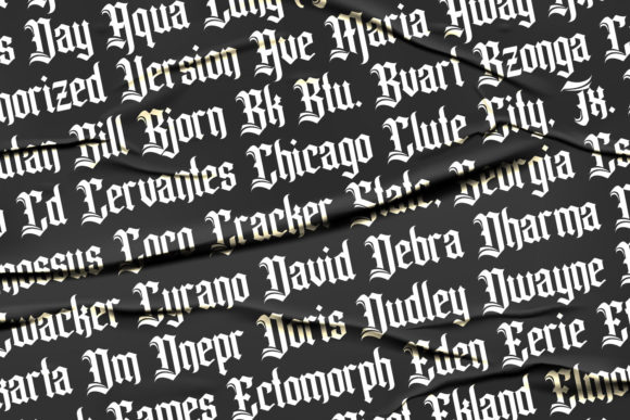 Print on Demand: Pollyester Blackletter Font By Maulana Creative - Image 6