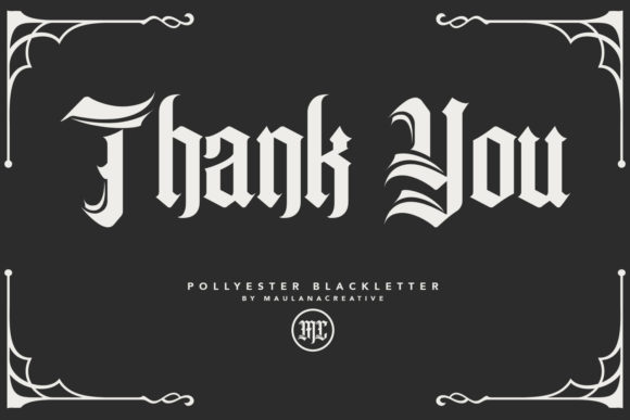 Print on Demand: Pollyester Blackletter Font By Maulana Creative - Image 8