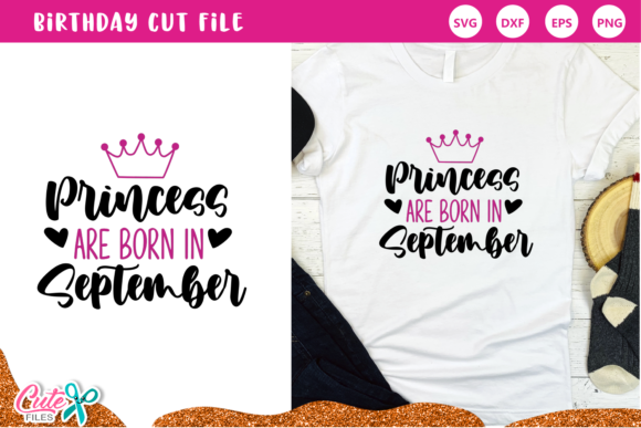 Princess Are Born in September Set Graphic Download