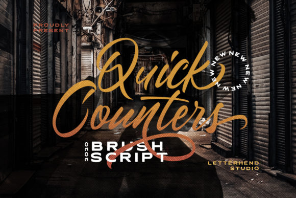 Print on Demand: Quick Counters Script & Handwritten Font By letterhend