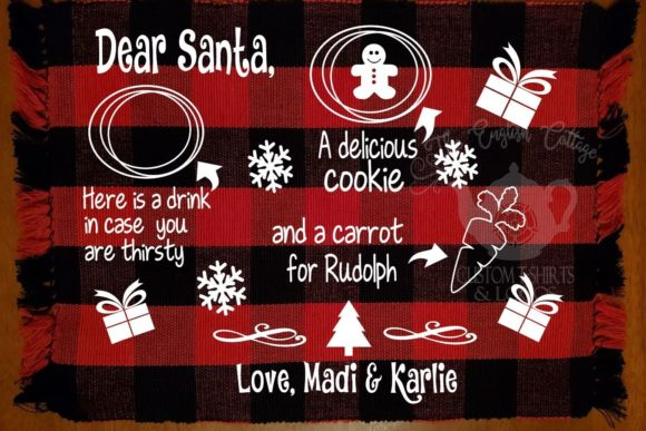 Santa Treat Mat Graphic Crafts By Caryn McCullough Owens