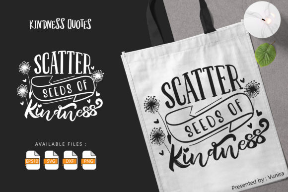 Print on Demand: Scatter Seeds of Kindness Grafik Plotterdateien von Vunira