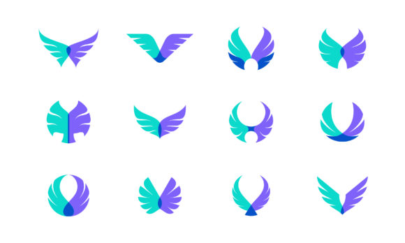 Semi Transparent Wings Logo Graphic Logos By murnifine