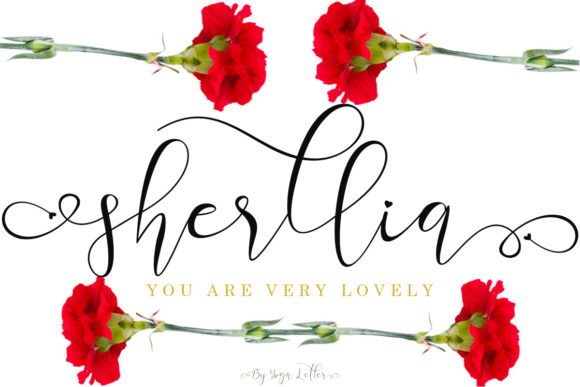 Print on Demand: Sherllia Script & Handwritten Font By yogaletter6