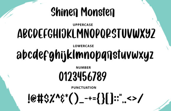 Shiner Monster Font Item