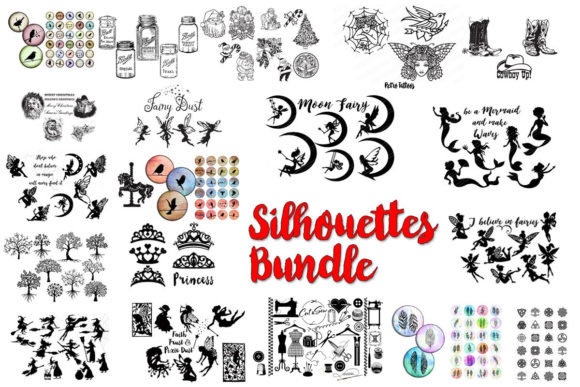 Print on Demand: Silhouettes Bundle  By CatgoDigital