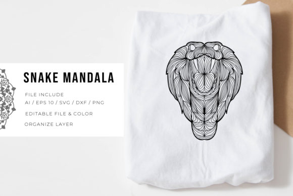 Print on Demand: Snake | Mandala Graphic Crafts By Vunira