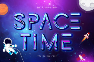 Print on Demand: Space Time Sans Serif Font By Lettersiro Co.