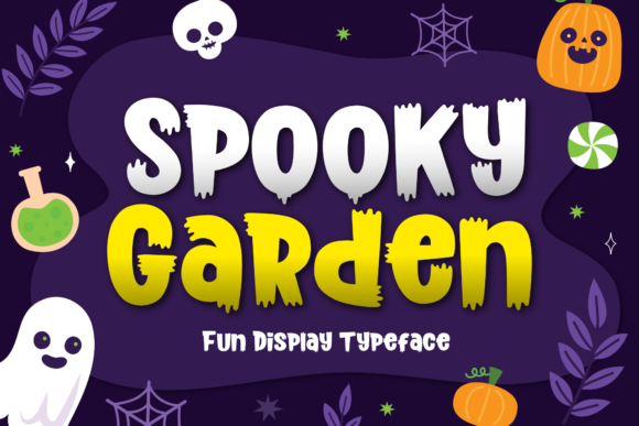 Print on Demand: Spooky Garden Display Font By Holydie Studio
