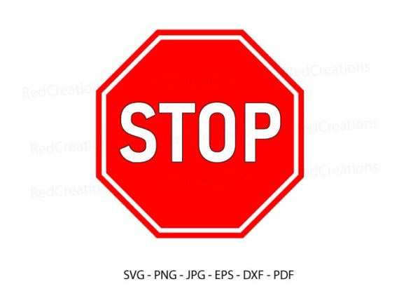 Stop Road Sign, Stop Clipart, Cut File Graphic Crafts By RedCreations