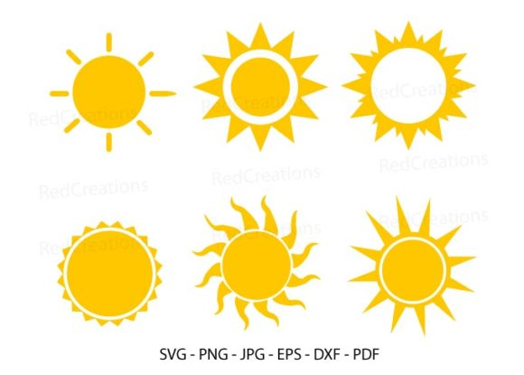 Sun Digital File, Sun Svg, Sun Light Graphic Crafts By RedCreations