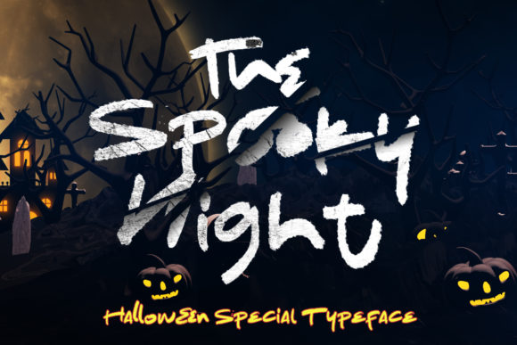 Print on Demand: The Spooky Night Display Font By AEN Creative Studio