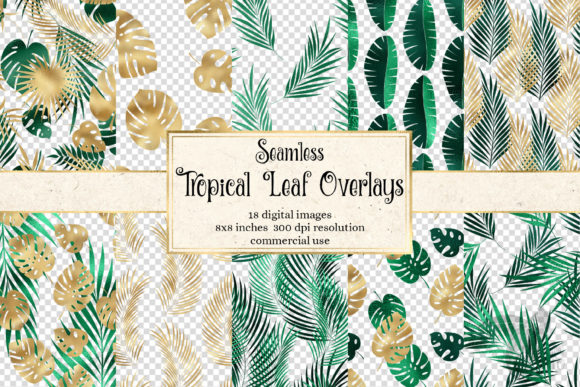 Print on Demand: Tropical Leaf Pattern Overlays Graphic Patterns By Digital Curio - Image 1