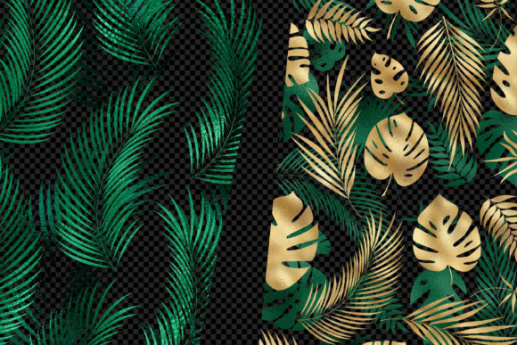 Print on Demand: Tropical Leaf Pattern Overlays Graphic Patterns By Digital Curio - Image 2