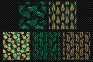 Print on Demand: Tropical Leaf Pattern Overlays Graphic Patterns By Digital Curio 3
