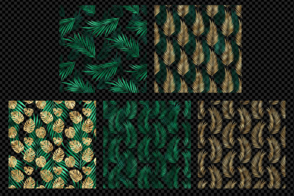 Print on Demand: Tropical Leaf Pattern Overlays Graphic Patterns By Digital Curio - Image 3