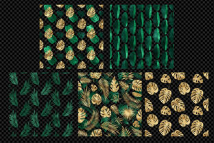 Print on Demand: Tropical Leaf Pattern Overlays Graphic Patterns By Digital Curio 4