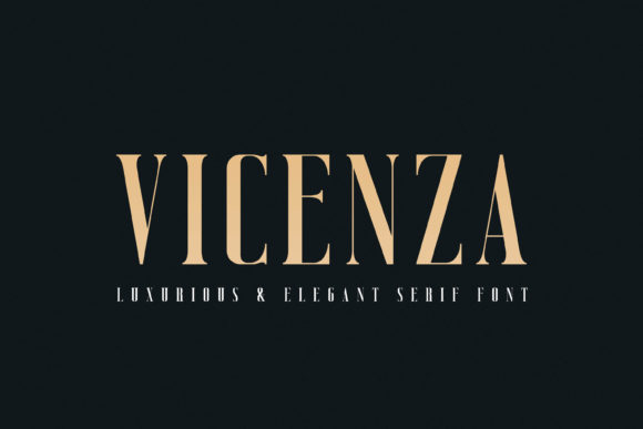 Print on Demand: Vicenza Serif Font By almarkhatype