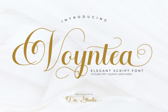 Print on Demand: Voyntea Script & Handwritten Font By Din Studio