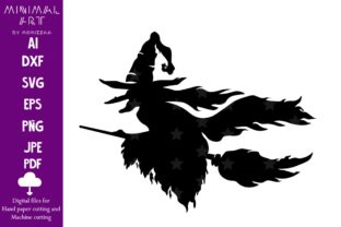 Print on Demand: Witch Riding a Broom Sublimation Graphic Print Templates By Momixzaa