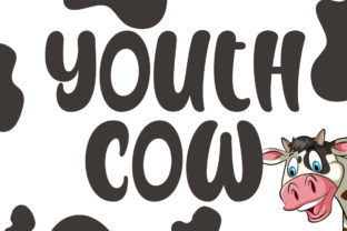 Print on Demand: Youth Cow Display Font By Fallengraphic