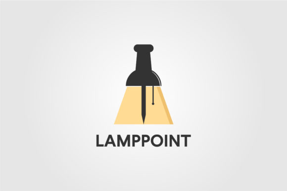 Lamp Store Point Logo Vector Design Graphic Logos By lawoel