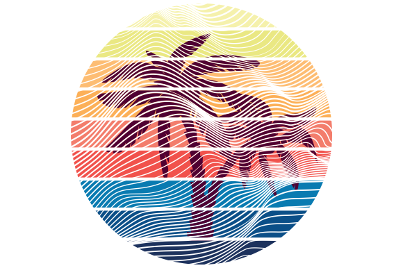 Print on Demand: Palm Trees Retro Graphic Crafts By AP