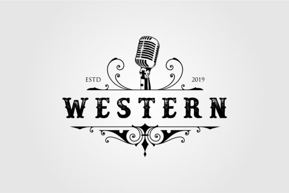 Western Music Logo Vintage Design Graphic Logos By lawoel