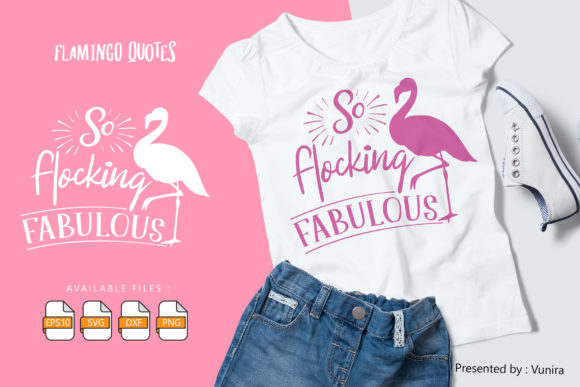 10 Flamingo Bundle - Lettering Quotes Graphic Popular Design