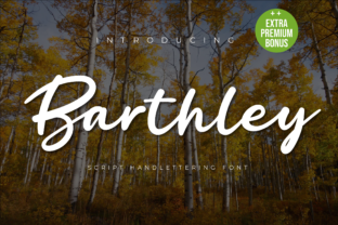 Print on Demand: Barthley Script & Handwritten Font By twinletter
