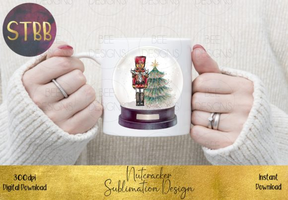 Beautiful Nutcracker in a Snow Globe Graphic Item