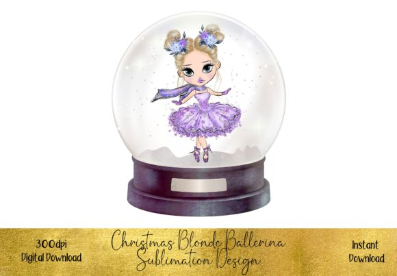 Blonde Ballerina Christmas Design Graphic Illustrations By STBB