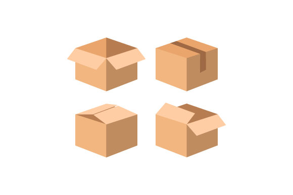 Cardboard Boxes Collection Design Graphic Illustrations By Muhammad Rizky Klinsman