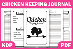Print on Demand: Chicken & Keeping Journal KDP Interior Graphic KDP Interiors By Fayne