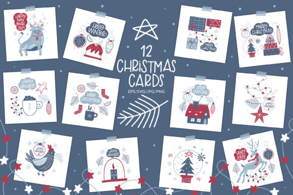 Print on Demand: Christmas Cards. Christmas Craft Graphic Illustrations By FindsArtDesign
