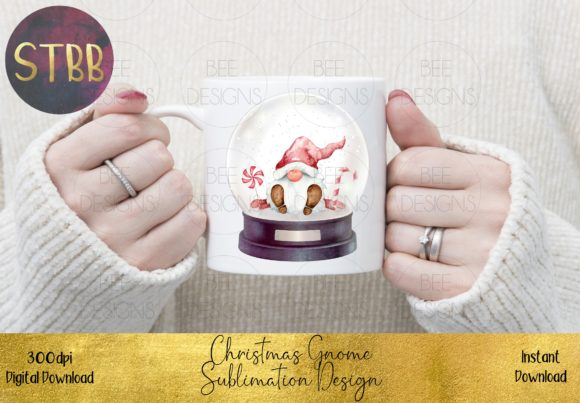 Christmas Gnome in a Snow Globe Graphic Item