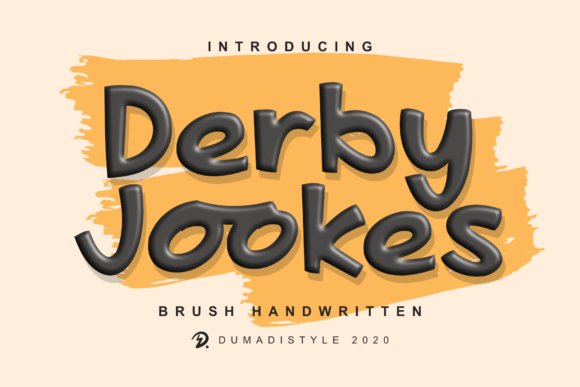 Print on Demand: Derby Jookes Display Font By DUMADI