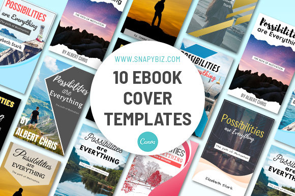 Print on Demand: E-Book Cover Canva Template Graphic Presentation Templates By SnapyBiz