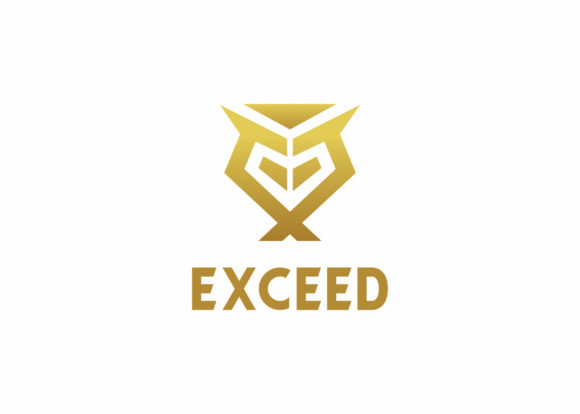 Print on Demand: Exceed - Letter E Logo Template Graphic Logos By Azis Ihsan