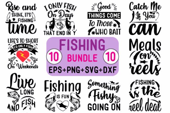 Fishing Bundle Graphic Crafts By creative store.net